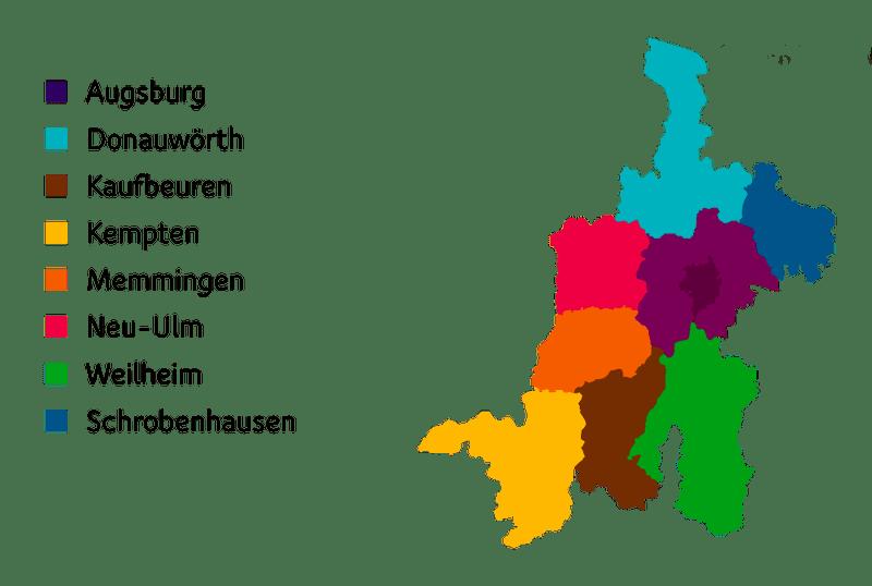 Das Bistum Augsburg und die Außenstellen der Ehe- und Familienseelsorge