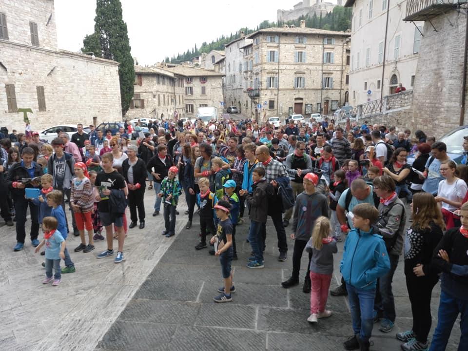 Familienwallfahrt Assisi Hat Begonnen