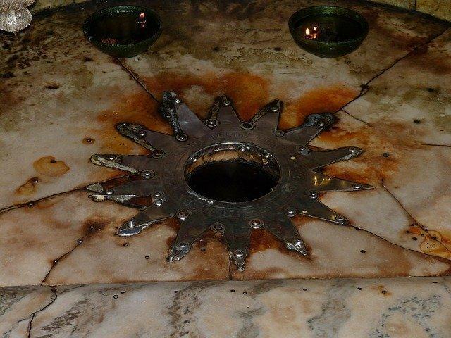 Stern in der Krypta der Geburtskirche in Bethlehem